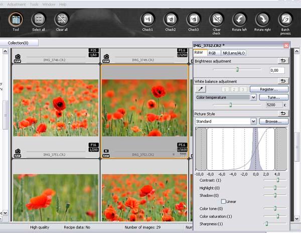 Image sensor response to light temperature color
