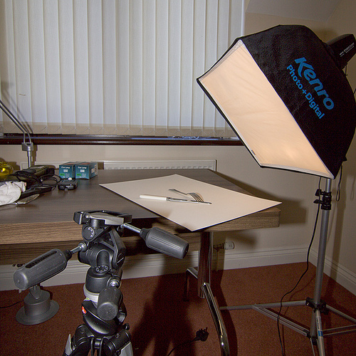 Lighting setup and processing for the high contrast look
