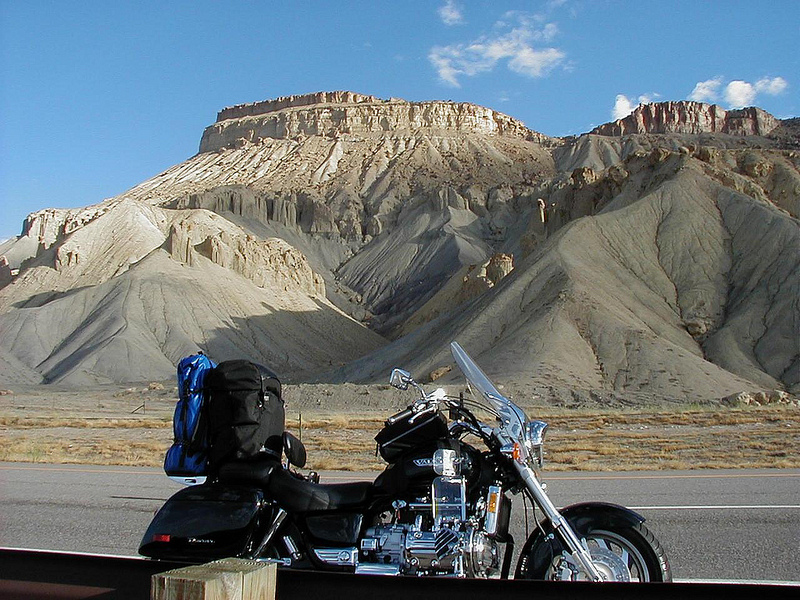 Motorcycle touring with DSLR and Tripod