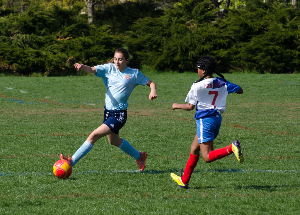 Soccer photo, autofocus