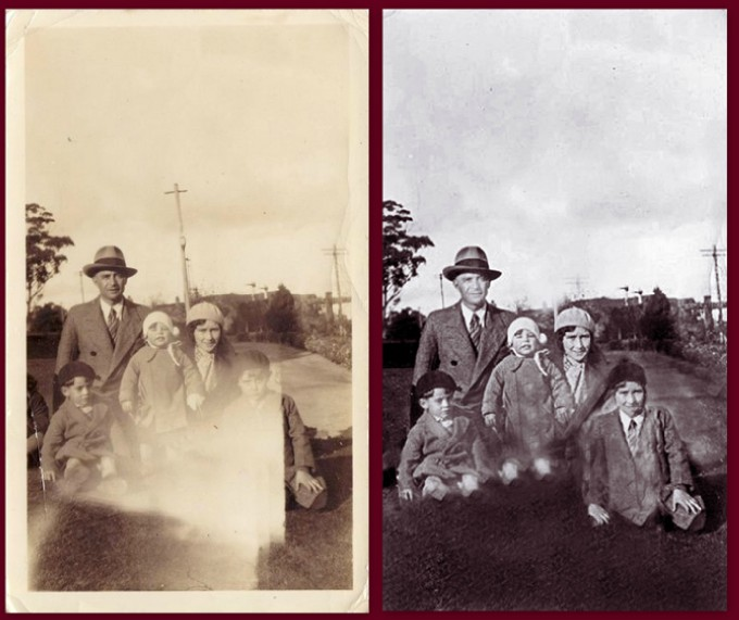 Restoring a Black and White photo