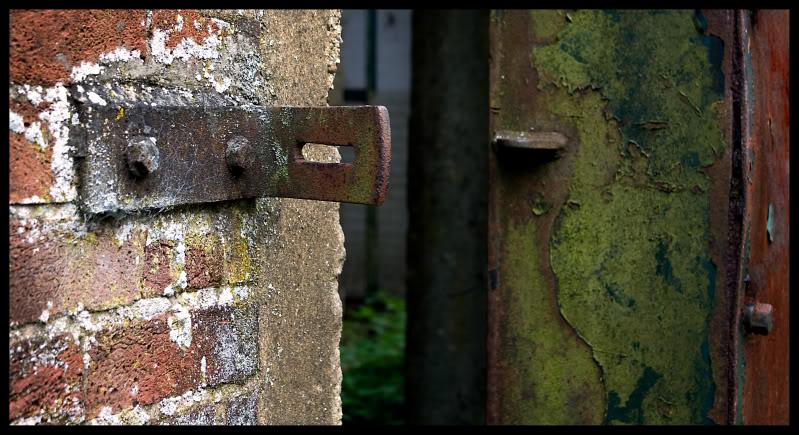 old blast door