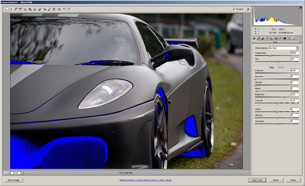Blue artifacts in ACR 6.2