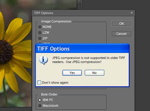 JPEG Compression in Tiff image