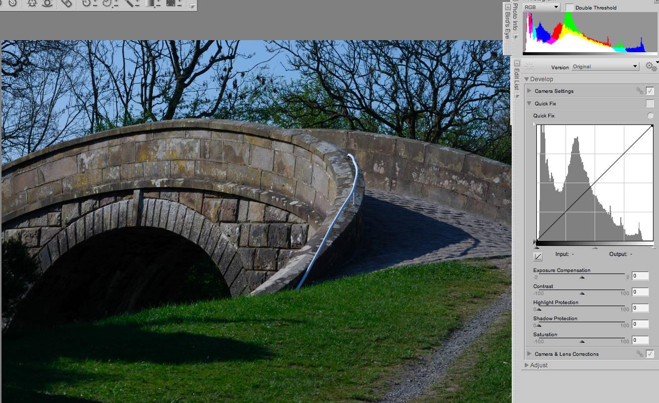 histograms, lenses and colour temp